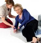 Carelink carer and elderly stock photo