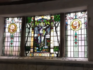 Stained glass at the Pump Room