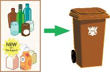 Glass and carton recycling