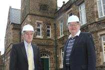 Cllr Ashton and Mike Bull at Victoria Hall
