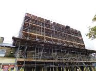Glossop town hall with scaffold