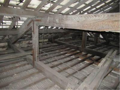 Inside roof space