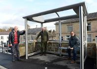 One of the new bus shelters in Whaley Bridge