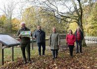 Launching the walking leaflets at the canal basin in Whaley Bridge